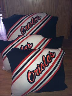 Pillows from old cheer uniforms. Know an old Emory cheerleader? I have the perfect gift! Old uniforms for sale 20.00