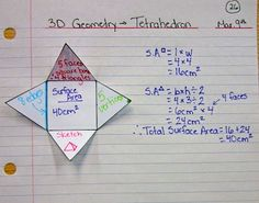 Math foldables for geometry