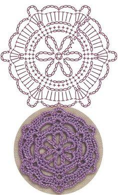 Best 6 Snowflake Medallion Lace Crochet Motifs / 눈송이 메달리온 모티브도안 – Page 228979962288807296 Crochet Flower Squares, Granny Square Crochet Pattern, Crochet Diagram, Crochet Round, Crochet Chart, Irish Crochet, Crochet Flowers, Freeform Crochet, Crochet Stitch