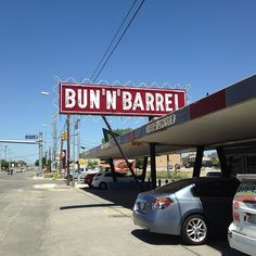 Check Out Bun \'N\' Barrel in San Antonio, TX as seen on Diners, Drive-ins and Dives and featured on TVFoodMaps.