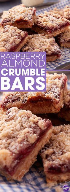 Raspberry Crumb Bar With Almond Streusel Recipe — Dishmaps
