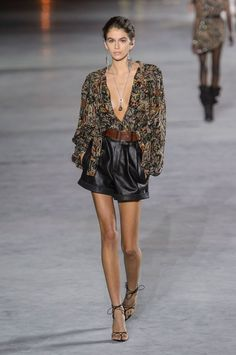 All the Looks From Saint Laurent Spring Summer 2018
