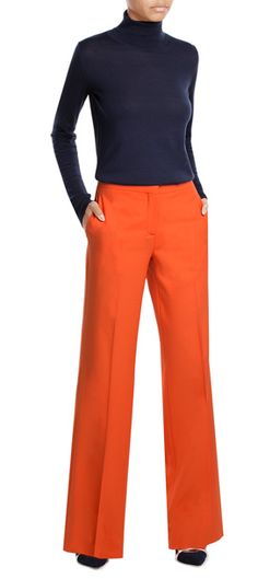 Tangerine+orange+coloring+makes+these+wide-leg+pants+a+statement+choice+from++Diane+von+Furstenberg+-+the+wool+composition+keeps+them+polished+and+soft+to+the+touch+#Stylebop Slacks, Diane Von Furstenberg, Wide Leg Pants, Stitch Fix, Orange Color, Composition, Coloring, Pants For Women, Touch