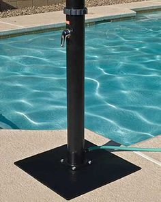 Outdoor Solar Shower with Base for Swimming Pools #poolshower #outdoorshower #pools