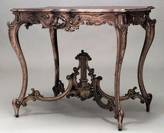 French Louis XV table center table gilt