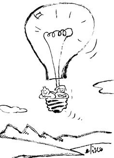 El primer #globo #eléctrico The first electrical balloon  #humor #grafico # drawings