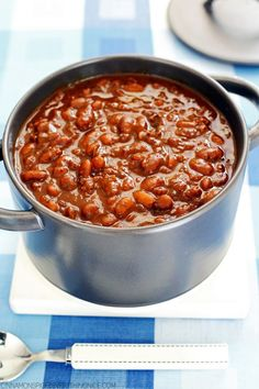 Slow-cooker Boston Baked Beans cinnamonspiceandeverythingnice.com