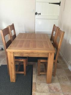 Solid Oak Extending Dining Table And 4 Chairs For Sale In Quarndon Derby