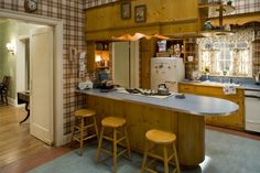 "The Drapers' kitchen will be one of the original sets on view in the exhibition ""Matthew Weiner's Mad Men,"" at Museum of the Moving Image, March 14–June 14, 2015. Photo from Mad Men - Season 2. Credit: Carin Baer/AMC"