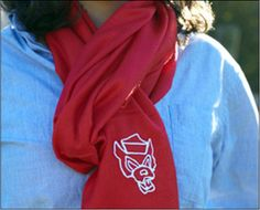 I love my Olly Oxen scarf.  This brand was founded by an NC native, Charlotte Guice, in 2009.  Charlotte is an NC State alum and started with Wolfpack themed apparel but is now branching out to including products for other teams and states.