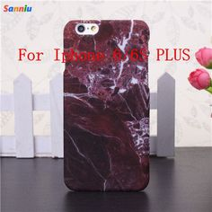 2016 Fashion Marble Pattern Phone Case Hard PC Case for iPhone 6 6S 6 Plus 5 5s Cover Coque Ultra thin Smooth Back Case Cover