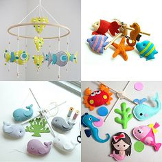 Cute! Homemade mobiles good idea!