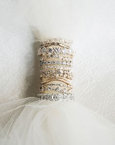Cluster wedding rings give you all the sparkle you could ever want!