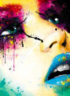 """ LAURA "" Photo and painting by Patrice Murciano  100x73 cm"