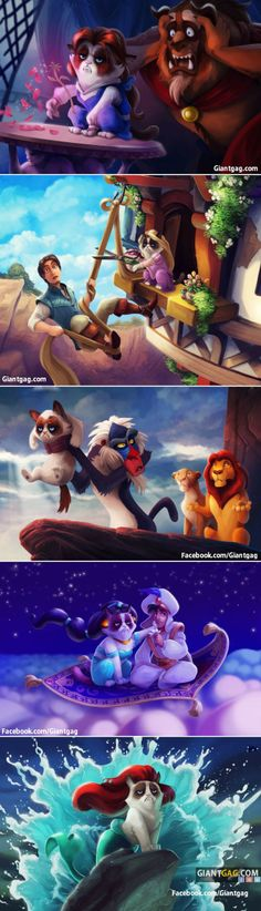 Grumpy Cat Meets Disney,  Click the link to view today's funniest pictures!