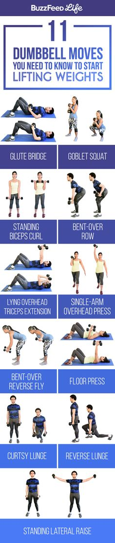 11 Dumbbell Moves You Need To Know To Start Lifting Weights! 11 Dumbbell Moves You Need To Know To Start Lifting Weights! Fitness Workouts, Sport Fitness, Body Fitness, At Home Workouts, Fitness Motivation, Fitness Shirts, Lifting Motivation, Total Body Workouts, Fitness Diet