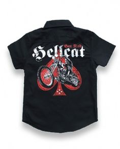 SKULL BIKER, Hotrod Hellcat Kids, Workshirts at Switchblade Clothing