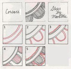 Corsace by MoonAttic - zentangle, tangle