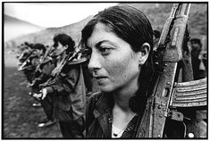 Female Kurdish guerrillas of the Kurdistan Workers' Party (PKK)