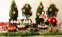 Decoração festa de aniversário infantil - Branca de Neve