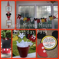 Basic Mickey Mouse Birthday Pack via Etsy