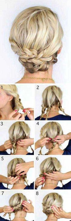 Messy Bun and Short Hair Updo for Prom | Fashion Qe