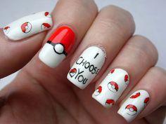 10 Kapow: I Choose You! Pokemon Valentines Nails