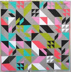 Punk Rock Glitz Quilt by Melissa Draper, quilted by Gina Boy | The Plaid Portico