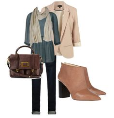 Great fall outfit for work...we're loving booties this season!