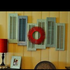 Recycled shutter decor
