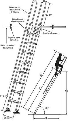 Escalera System fabricada totalmente de aluminio permite un acceso cómodo y móvil a desniveles superiores como altillos