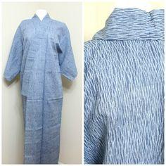 Arimatsu Narumi Shibori Kimono. Natural Indigo Dye. by FurugiStar
