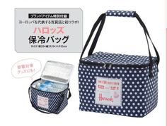 Harrods Blue Polka Insulated Thermos Picnic Lunch Cooler Bag (Jap Magazine Gift)   eBay