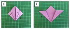 Como fazer flor de origami