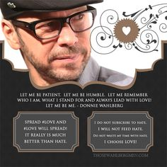 Donnie's tweets of wisdom and love