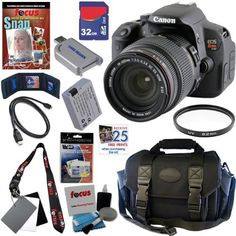 Canon EOS Rebel T4i 18.0 MP CMOS Digital SLR Camera with Sigma 18-200mm f/3.5-6.3 II DC OS HSM All-In-One Zoom Lens + 11pc Bundle 32GB Deluxe Accessory Kit by Canon. $1169.95. The new Rebel T4i delivers phenomenal image quality, high performance, and fast, intuitive operation. This EOS Rebel amps up the speed with the powerful DIGIC 5 Image Processor that helps make high-speed continuous shooting of up to 5.0 fps possible-great for capturing fast action. An 18.0 Megapi...