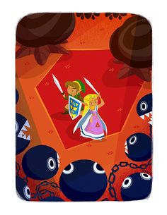 "- Inspired by The Legend of Zelda: A Link to the Past - Fine Art Giclee Print - Limited Edition of 40 - Approximately 8.5"" x 11"""