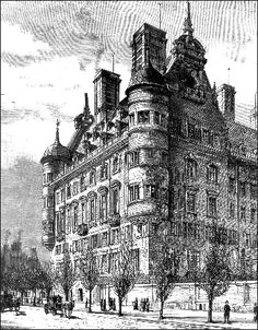 New Scotland Yard on the Victoria Embankment in London