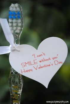 Toothbrush Valentine's Day Gift Idea - No candy Valentine