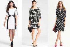 black white dresses