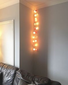 Cable and cotton lights - give your home a cosy vibe.