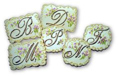 Wedding Monograms, Vintage Handkerchief Inspired Monogram Cookies, Wedding Cookies by Rolling Pin Productions
