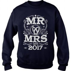 Wedding Anniversary gift shirt Mr and Mrs since  2017