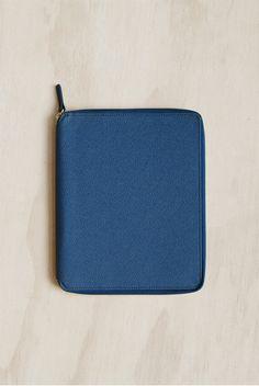 Delfonics - Curiosite Zippered Document Case - A5 - Dark Blue
