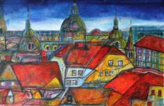 mr marian hergouth, Graz Impression City Art, Art Ideas, Paintings, Texture, Artist, Paper, Graz, Canvas, Drawing S