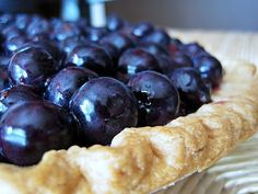 The Best Blueberry Pie EVER. For real! I hate blueberry pie, that sticky jammy filling but this is nothing like that! So fresh and perfect. A+