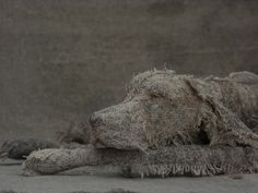 Looking for a lovely way to honor a special pooch in your life? British sculptor Helen Thompson, aka Holy Smoke, creates textile sculptures of dogs that really capture the essence of dogness.