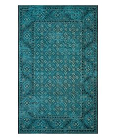 Another great find on #zulily! Turquoise & Cream Kai Rug #zulilyfinds