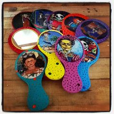 Hand mirrors with Catrina and Frida designs! Fun gift!