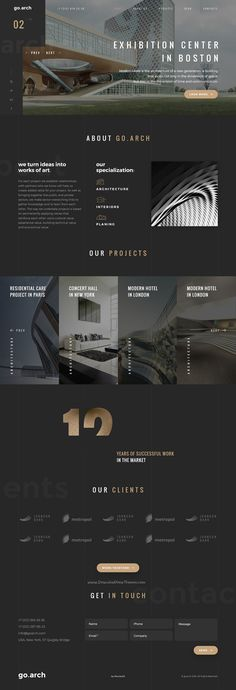 go.arch is a luxury and trendy design #bootstrap template in dark and light styles for #architecture buerau, #interior design, constructions or corporate website download now➩ https://themeforest.net/item/goarch-architecture-interior-template/17400529?ref=Datasata